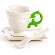Seletti - I-Ware Conjunto de café (3 peças) Verde