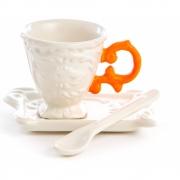 Seletti - I-Ware Conjunto de café (3 peças) Cor-de-laranja