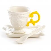 Seletti - I-Ware Conjunto de café (3 peças) Amarelo