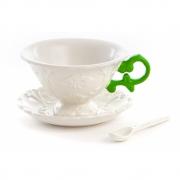Seletti - I-Wares Conjunto de café (3 peças) Verde