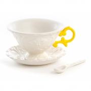 Seletti - I-Wares Conjunto de café (3 peças) Amarelo