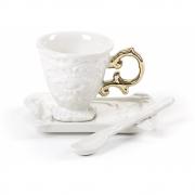 Seletti - I-Wares Gold Conjunto de café (3 peças)