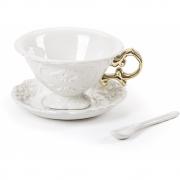 Seletti - I-Wares Gold Conjunto de chá (3 peças)