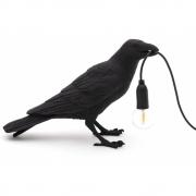 Seletti - Bird Waiting Tischleuchte Black   Waiting OUTDOOR
