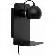 Frandsen - Ball Wandleuchte mit USB Ladegerät Schwarz