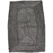 House Doctor - Structure Rug 130 x 85 cm | Black