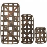 House Doctor - Wood Tablett (3er Set)