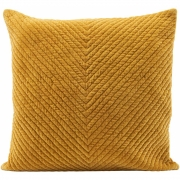 House Doctor - Cushion cover Velv with pattern Curry