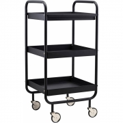 House Doctor - Serving trolley Roll Removable tray Black