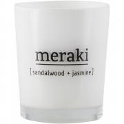 Bougie parfumée Sandalwood & Jasmine - Meraki Durée de combustion 12 h