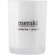 Meraki - Scented Candle White Tea & Ginger 35 h burning time