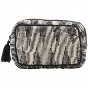 Meraki - Make-Up-Tasche Baumwolle mit Jacquardmuster