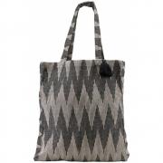 Meraki - Einkaufstasche mit Jacquardmuster