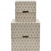 House Doctor - Floral Storages (Set of 2) Beige