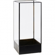 Vitrine Plant - House Doctor 21 x 21 x H 45 cm | Noir antique