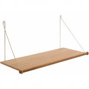 we do wood - Loop Regal Eiche (Winkel: Messing)