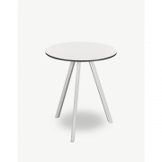 Skagerak - Overlap Tisch rund Outdoor 62 cm   Silberweiß