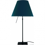 Luceplan - Costanza Table Lamp dimmable Petroleum Blue | Black