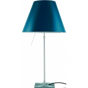 Luceplan - Costanza Table Lamp dimmable Petroleum Blue | Alu