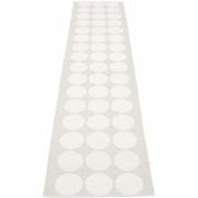 Pappelina - Tapete Hugo Metálico Branco | 70 X 400 cm