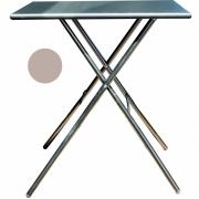 Fiam - Sirio Folding Table 67 x 67 cm   Taupe