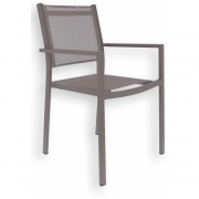 Fiam - Chaise empilable Aria Structure: Taupe; Housse: Taupe