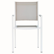 Fiam - Chaise empilable Aria Structure: Blanc; Housse: Taupe