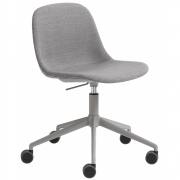 Muuto - Fiber Side Chair Swivel Base w. Castors & Gas Lift