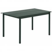 Muuto - Linear Tisch 140 x 75 cm   Dunkelgrün