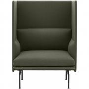 Muuto - Outline Highback 1-Sitzer Sofa, SH. 45 cm