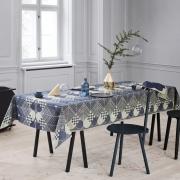 Georg Jensen Damask - Nappe Noël Or bleu 140 x 270 cm