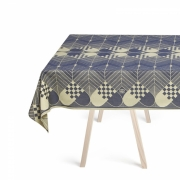 Georg Jensen Damask - Christmas Tablecloth Blue Gold