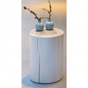 Jan Kurtz - Block Stool lacquerd 46 cm | White