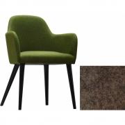Jan Kurtz - Flaminia fauteuil Marron pierre   Hêtre wenge
