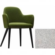 Jan Kurtz - Flaminia fauteuil Gris clair | Hêtre wenge