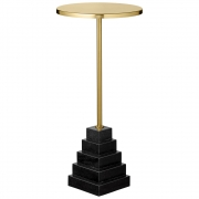 AYTM - Solum Tisch Gold / Black / Ø32xH67 cm