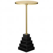 AYTM - Solum Tisch Gold / Black / Ø32xH55 cm