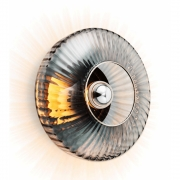 Design by Us - New Wave Optic XL Wall Lamp Smoke