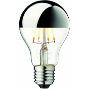 Design by Us - Suggested bulb Arbitrary Ø60 Crown light bulb Silver