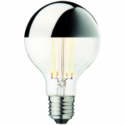 Design by Us - Globe Bulb Ø80 Crown Silber