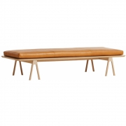 Woud - Level Daybed Eiche / Cognac