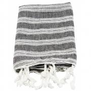 Meraki - Hammam-Handtuch 90 x 45 cm | Schwarz/Weiß