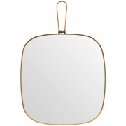 Meraki - Mirror, Antique brass 26x28 cm