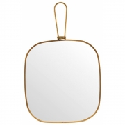 Meraki - Mirror, Antique brass 20x22 cm