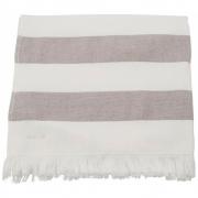 Meraki - Barbarum Towel, White and Brown Striped, 70x140 cm
