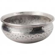 Meraki - Althea Basin, Antique Silver, Handmade, Ø 21 cm