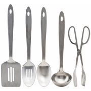 House Doctor - Take Kitchen tools, 5 Stck./Pck., Silber-Finish