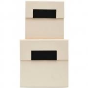 Boîtes de rangement Birch beige (2 pcs) - House Doctor