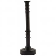 House Doctor - Jersey Kerzenständer H. 20 cm, Dunkelbraun