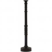 House Doctor - Jersey Kerzenständer H. 28 cm, Dunkelbraun